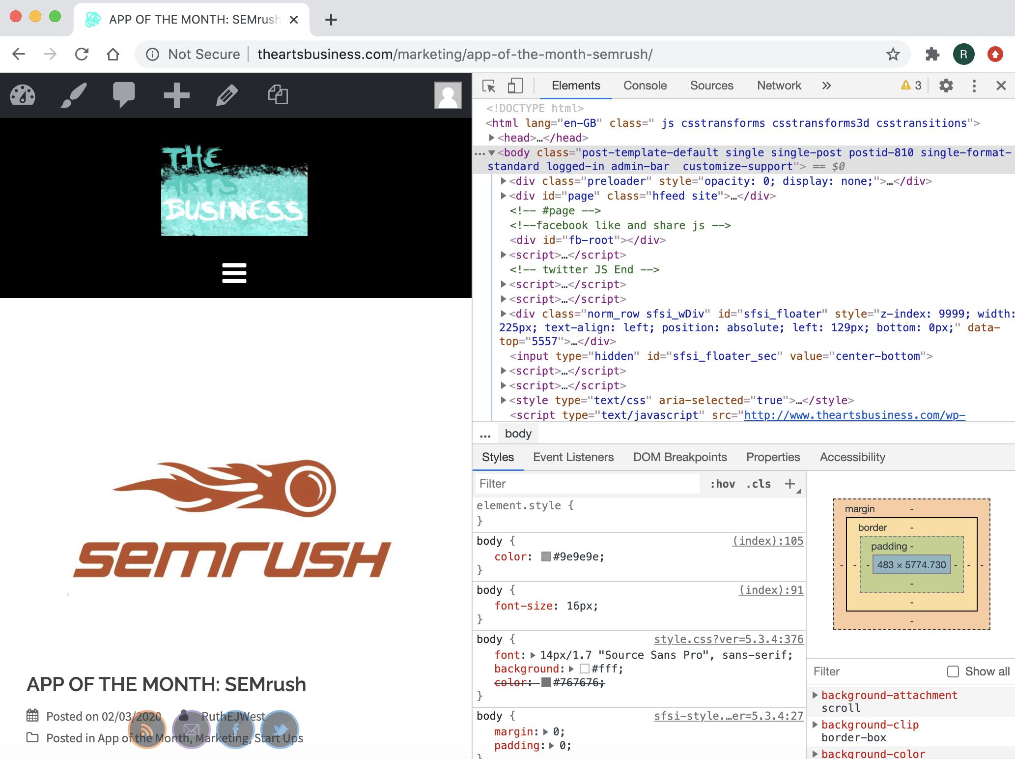 SEMrush post code